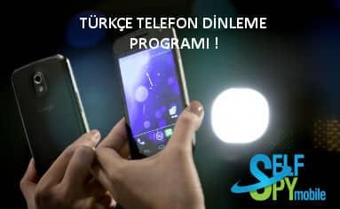Türkçe cep telefon dinleme programı